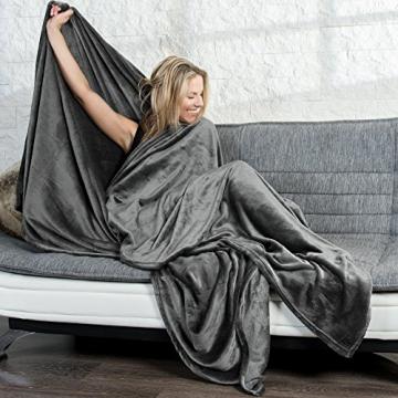 samtweiche xxl kuscheldecke 2 gr en verschiedene farben mikrofaser flanell mit cashmere. Black Bedroom Furniture Sets. Home Design Ideas