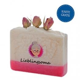 Besonderes Geschenk für Oma* Seife handgeschöpft als Geschenk Oma* Duftende handgesiedete Seife* Handseife Oma + GRATIS Karte* handgemachte Seife mit Rosenduft* Oma Geschenk Weihnachten* Geschenk Oma -