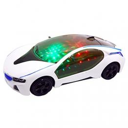 Blue Vessel 3D-Supercar Style- Elektro-Spielzeug mit Rad-Leuchten & Music - Kinder Jungen Mädchen-Geschenk -