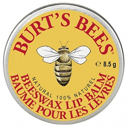 Burt's Bees 100 Natural Lip Balm Tin, Beeswax (in der traditionellen Dose), 1er Pack (1 x 8,5 g) -