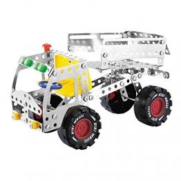 DIY Auto Modellbausätze LKW Konstruktionsspielzeug Metall Gebäude Spielzeug Spiel Geschenke für Kinder ab 6 7 8 Jahre Jahren -