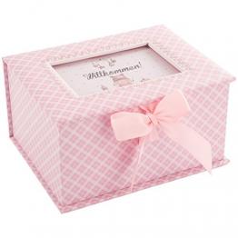 """DKDS Collection Baby Erinnerungsbox """"Prinzessin"""", Geschenk zur Geburt oder Taufe, rosa -"""