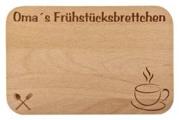 Frühstücksbrettchen / Frühstücksbrett mit Gravur für die Oma als Geschenk - aus Holz - Geschenkidee ideal zum Geburtstag oder zu Weihnachten -