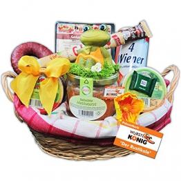 """Geschenk Korb """"Der Rustikale"""" Präsentkorb (6020), Geschenkkörbe gefüllt mit rustikalen Wurst-Delikatessen - Deftige Geschenke von Wurst-König® -"""