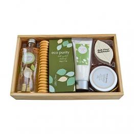 """Geschenk Wellness-Set """"Aloe Vera"""", in Holzbox mit Duschgel, Badesalz, Fizzer, Body Scrub - tolles Weihnachtsgeschenk -"""