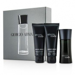 Giorgio Armani code Pour Homme Set 50ml EDT Eau de Toilette Spray + 75 ml Duschgel + 75ml After-Shave Balm -