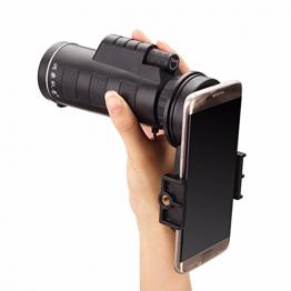 Handy-Teleskop, M.Way Universal12x50 / 10x40 Teleobjektiv Wandern Konzert Kamera-Objektiv-Binokel Universalhalter + Tasche für iPhone Sony Samsung Moto usw. 1 10x40 -