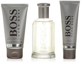 Hugo Boss Bottled Geschenkset für Ihn (EdT 100ml, Aftershave Balm 75ml + Duschgel 50ml) -