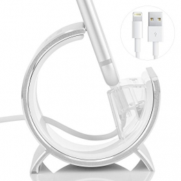 iPhone Dockingstation, SINJIMORU iPhone Ladestation / Standfuß für iPhone 7/ 7 Plus/ 6/ 6 Plus/ SE/ 5/ 5c/ iPod touch mit Lightning-Kabel (kein MFI). Sync Aluminium Ständer, iPhone Paket, Silber. -