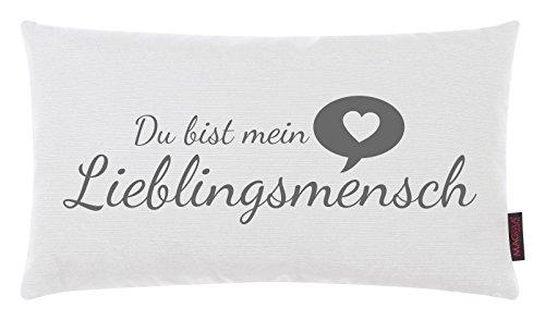 Kissen Lieblingsmensch weiß 30x50cm Made in Germany -