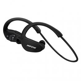 MPOW Bluetooth 4.1 Kopfhörer Stereo drahtlos Sportkopfhörer mit AptX Headset für iPhone 7 6 Plus Cheetah Schwarz -