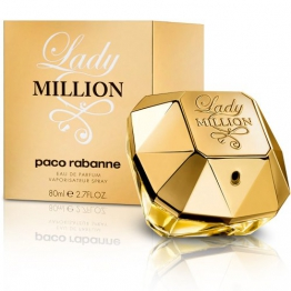 Paco Rabanne Lady Million femme / woman, Eau de Parfum, Vaporisateur / Spray, 1er Pack (1 x 80 ml) -