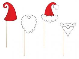 SiDeSo® Foto Gadgets Weihnachtsmann -