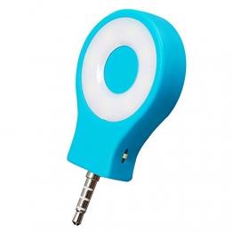 Skitic Mini LED Strahler Flash Selfie Licht Handy Kamera Foto Video Lampe für Apple iPhone Samsung HTC Nokia iPad LG Huawei Motorola Moto Andere Smartphone Tablets (Blau) -