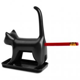 Splash Brands 8034-1 Bleistiftanspitzer Miauende Katze mit Sounds, schwarz -