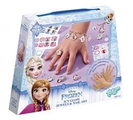 Totum- Disney Frozen / Die Eiskönigin / Bastel-Set: Schmuck Basteln + Nagelaufkleber -