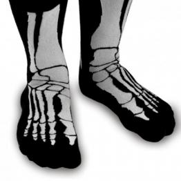 Witzige Socken mit Aufdruck - Skelett Socken -