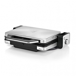 WMF LONO Kontaktgrill 2-in-1, Tischgrill, spülmaschinenfeste Grillplatten, 2100 W, cromargan matt/silber -