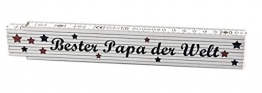 Zollstock Bester Papa der Welt - Geschenk - Vater - Vatertag -