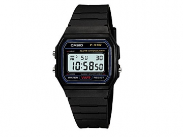 Casio Collection Herren-Armbanduhr Digital Resin – F-91W-1YER -