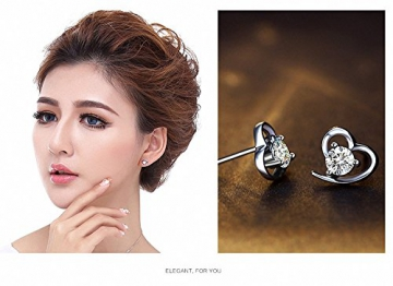 J.Vénus Damen Ohrstecker Ohrringe Set Basic 925 Sterling Silber, Ohrringe mit Etui -