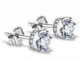 J.Vénus Damen Ohrstecker Ohrringe Set Basic 925 Sterling Silber, Ohrringe mit Etui … -