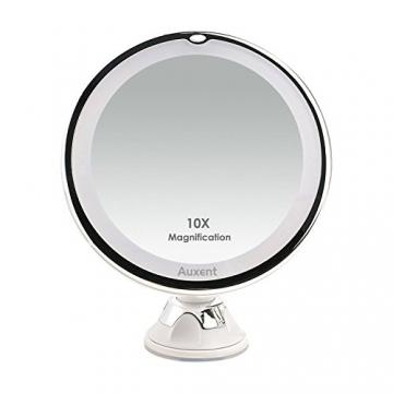 Auxent Kosmetikspiegel Led Beleuchtet Mit 10x Vergr 246 223 Erung